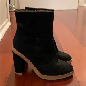 See by Chloe boots with scallop trim